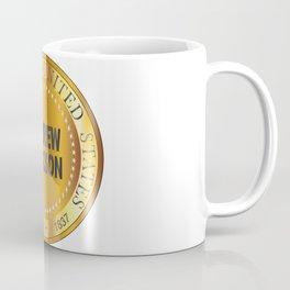 Andrew Jackson Gold Metal Stamp Coffee Mug