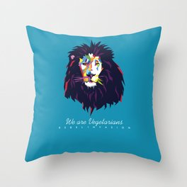 We are Vegetarians Throw Pillow