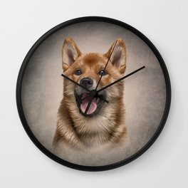 Drawing Japanese Shiba Inu dog  Wall Clock