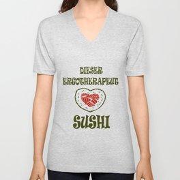 Ergotherapeut liebt Sushi Unisex V-Neck