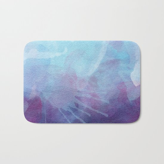 Blue Watercolor I Bath Mat