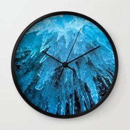 Ice Stalactites Wall Clock