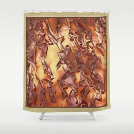 A STUDY OF MADRONA BARK Shower Curtain