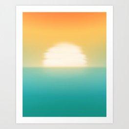 Into the horizon Art Print