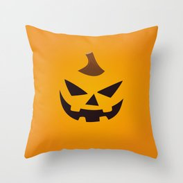 Halloween Pumpkin Smiling Face Primitive Decor Throw Pillow