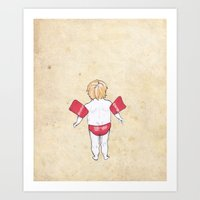 Would the next Michael Phelps please stand up? Art Print