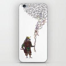 Samurai Bird Play iPhone & iPod Skin