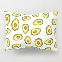 Modern hand painted avocado green brown watercolor pattern Pillow Sham