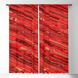 Speed Demon / Abstract 3D render of glass and metal Blackout Curtain