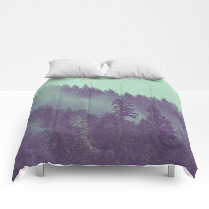 Adventure Awaits Forest Comforters