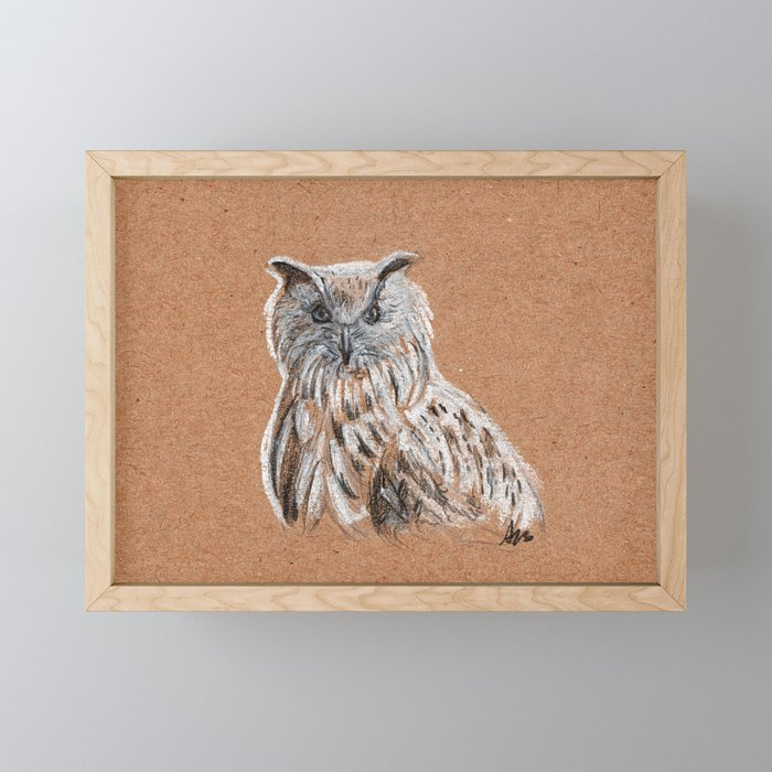 OWL Framed Mini Art Print