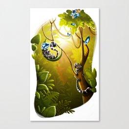 Ringtail Lemurs Canvas Print