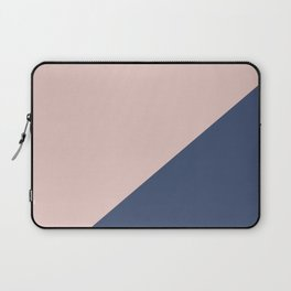 Soft Pink Plus Dark Blue - oblique Laptop Sleeve