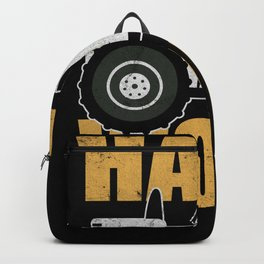 Hard Work Tractor Farm Agriculture Love Backpack