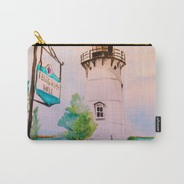 East Chop (Telegraph Hill) Lighthouse Martha's Vineyard Watercolor Carry-All Pouch