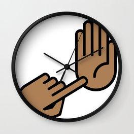 Kalamazoo Michigan Hand Map Wall Clock