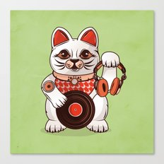 Meowsique non stop Canvas Print