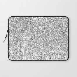 Graffiti Black and White Pattern Doodle Hand Designed Scan Laptop Sleeve