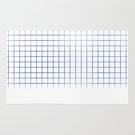 Blue Grid Rug