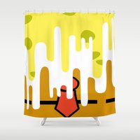 spongebob Shower Curtains featuring Spongebob SquareDrip by JessicaSzymanski