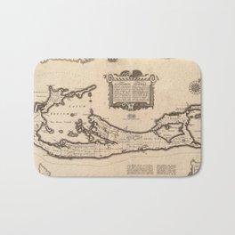 Vintage Map of Bermuda (1626) Bath Mat
