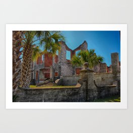 Abandoned mansion in ruins Art Print