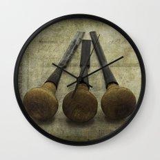 Vintage Chisels Wall Clock