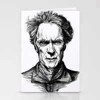 clint eastwood Stationery Cards featuring Clint Eastwood by Oriane Mlr