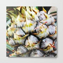 Close-up of Hawaiian Pineapple Metal Print