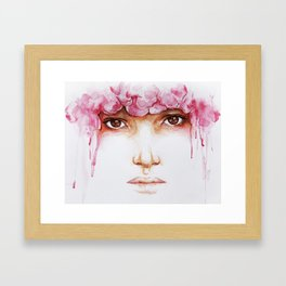 I Hide Myself Within My Flower Framed Art Print