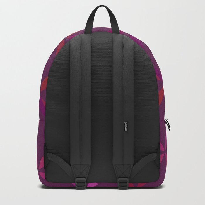 Fancy red and pink circle pattern Backpack