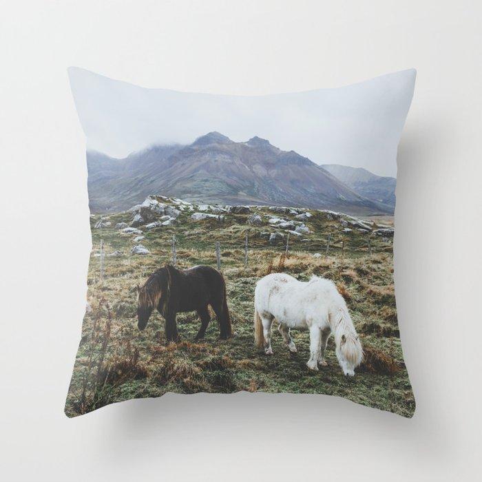 Iceland X Throw Pillow