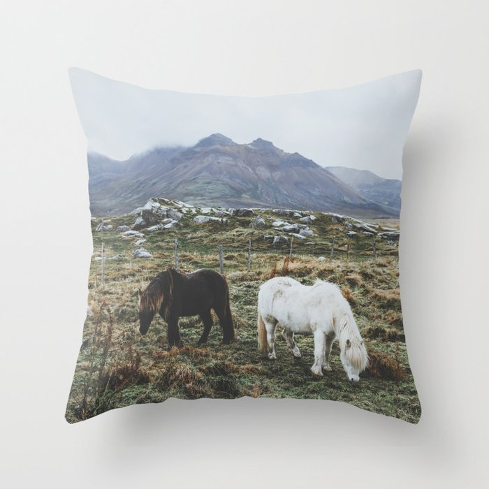 Iceland X Throw Pillow