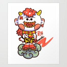 Red Oni Art Print