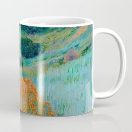 Claude Monet Impressionist Landscape Oil Painting Poppy Field in a Hollow near Giverny Coffee Mug
