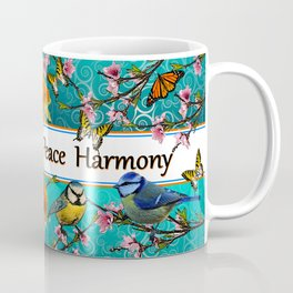 Birdy & Fishy spring blue Coffee Mug