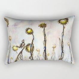 Bird Sings the Sunflower Blues Rectangular Pillow