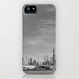 Oil refinery #blackwhite iPhone Case