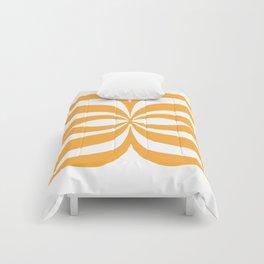 Modern Orange Graphic Comforters