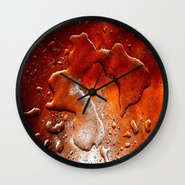 drops in copper Wall Clock