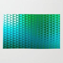 Groovy Retro Pattern (green) Rug
