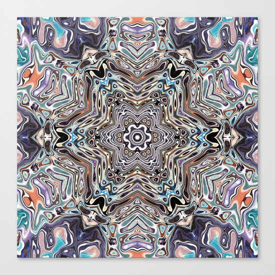 Colorful Kaleidoscopic Abstract Canvas Print