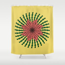 coral flower Shower Curtain