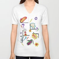 comic book V-neck T-shirts featuring Comic Book by michaelrosen