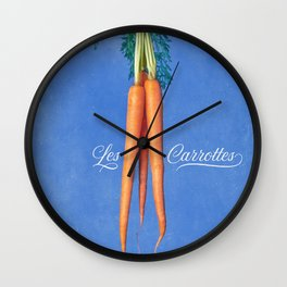 Les Carrottes Wall Clock