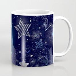 Background with a blue moon Coffee Mug