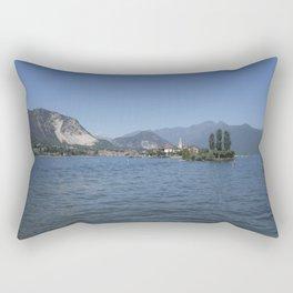 Panoramic view of Fishermen Island on Lake Maggiore, Italy Rectangular Pillow