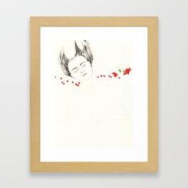 Fruit sleeping (redcurrant) Framed Art Print