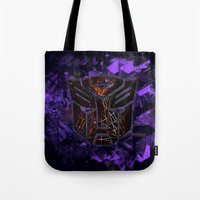 transformers Tote Bags featuring Autobots Abstractness - Transformers by DesignLawrence
