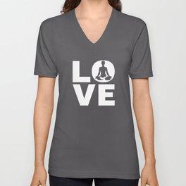 Love Yoga Gift For Yogis Unisex V-Neck
